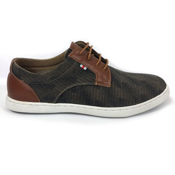 MORGAN & CO - Canvas Lace Up Shoe Tan