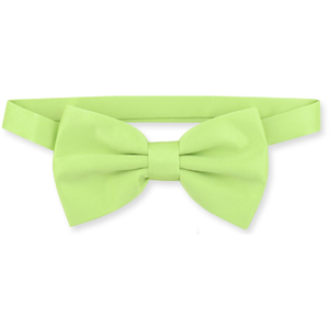 ZAZZI :  Silk Effect Lime Green Bow Tie