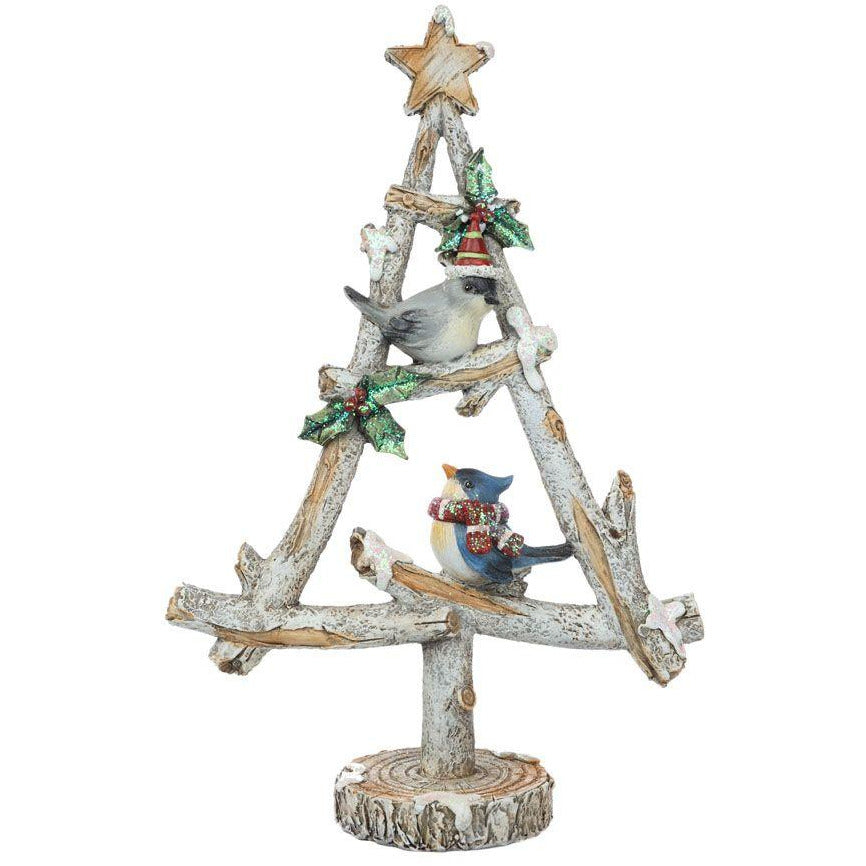 Christmas Tree With Birds 32cm
