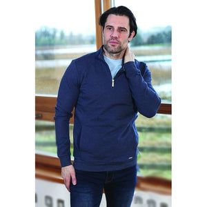 OUTRAGE : Lamar 1/4 Zip Navy