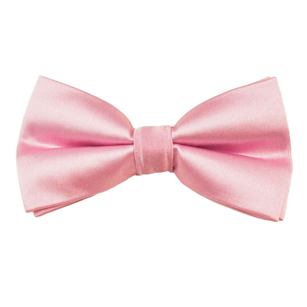 ZAZZI :  Silk Effect Pink Bow Tie