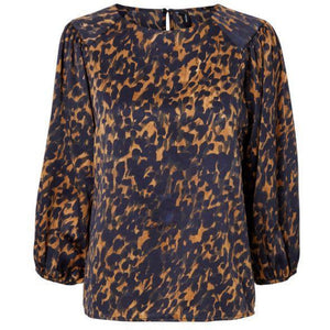 VERO MODA : Gillea Patterned Top Brown