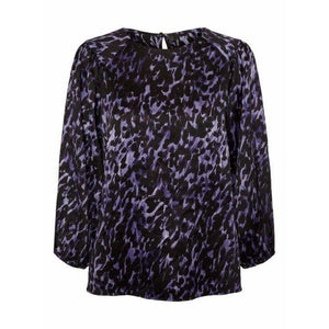 VERO MODA : Gillea Patterned Top Purple