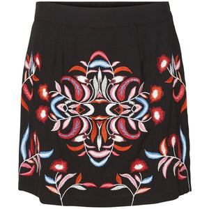 VERO MODA :  Embroidered Mini Skirt