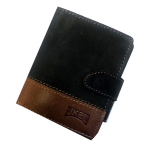 JKEL : RFID Protected two tone Leather Card Wallet
