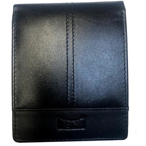 JKEL : RFID Protected Black Leather Card Wallet