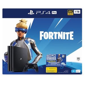 Sony PlayStation Fortnite Neo Versa PS4 Pro Bundle 1TB for Playstation 4 with 1 Dual Shock4 Wireless Controller - Black - shopperskartuae