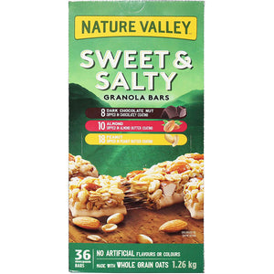 Nature Valley Sweet And Salty Granola Bars Variety Pack (36 Bars).