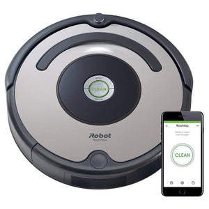 iRobot Roomba 676 WiFi Connected Robot Vacuum - Good For Carpets And Hard Floors - Dirt Detect Technology - 3 Stage Cleaning System -Schedule Cleaning Through App. - shopperskartuae