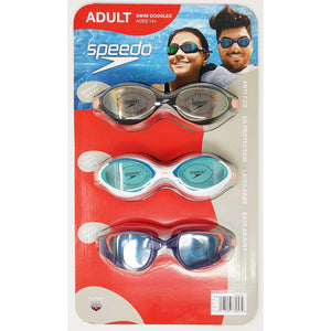 Speedo Swim Goggles For Adults (3-Pack). - shopperskartuae