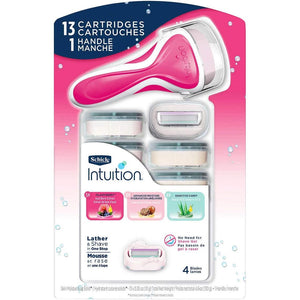 Schick Intuition Variety Pack 13 Refills with Razor Handle. - shopperskartuae