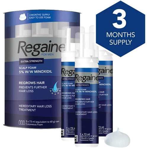 Regaine For Men Hair Regrowth Foam ( 73ml). - shopperskartuae