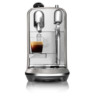 Sage Creatista Plus Smoked Hickory Nespresso Capsule Coffee Machines.