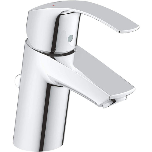 Grohe Single-Lever Basin Tap (Chrome, 33265002) With Pop-up Waste, Plug, One Handle Basin Mixer Tap, Bathroom, Regular Spout, Water-saving, Easy To Clean, Easy Installation. - shopperskartuae