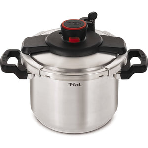 T-Fal Clipso Stainless Steel Pressure Cooker Silver Metallic (6L). - shopperskartuae