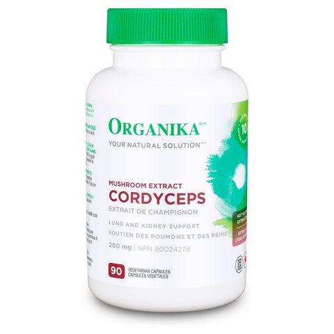 Organika Mushroom Extract Cordyceps (90 VCaps) - Lung & Kidney Support.