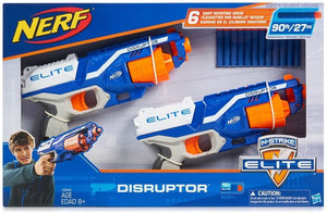 Nerf N-Strike Elite Disruptor 6 Dart Rapid Fire Nerf Gun Blaster Shoots 90 ft (Twin Pack)