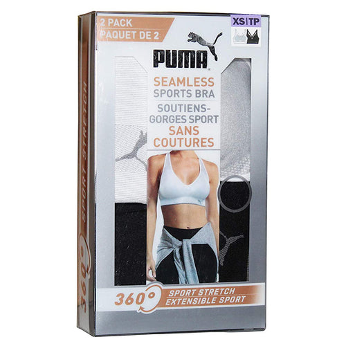 Puma Seamless Sports Bra 360° Sport Stretch (Extra Small). - shopperskartuae