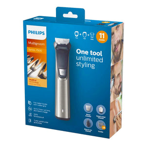 Philips Series 7000 11-in-1 Ultimate Multi Grooming Kit for Beard, Hair and Body with Nose Trimmer Attachment, Premium Metal Handle - MG7735/03. - shopperskartuae
