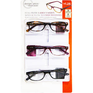 Design Optics Full-Frame Classic Ladies Eye Wear (Pack of 3). - shopperskartuae