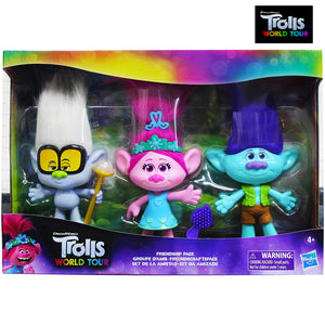 Dreamworks Trolls World Tour Friendship Pack (Pack of White, Pink, Green).