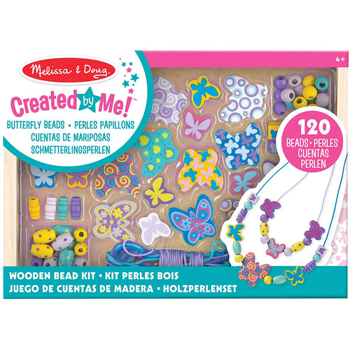 Melissa & Doug Butterfly Friends Wooden Bead Set with 150+ Beads for Jewelry-Making. - shopperskartuae