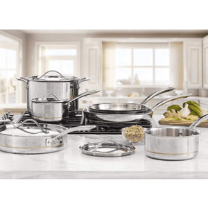 Kirkland Signature Stainless Steel 10 Piece Cookware Set. - shopperskartuae
