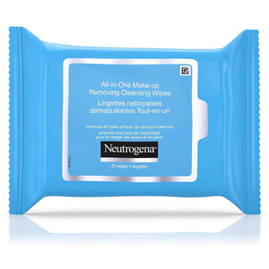 Neutrogena All in One Face Wipes, Alcohol Free Makeup Remover Wipes (25 wipes).