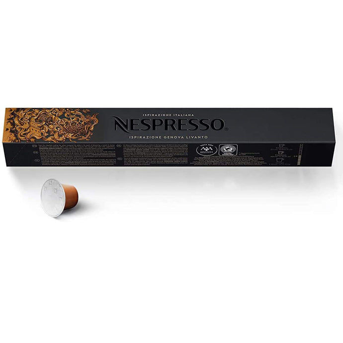 Nespresso Capsules OriginalLine, Ispirazione, Medium Roast Espresso Coffee, 10 Count Espresso Coffee Pods, Brews 1.35oz (Ispirazione Genova Livanto). - shopperskartuae