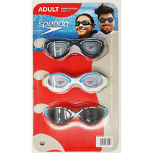 Load image into Gallery viewer, Speedo Adult Swimming Goggles (3 Pack). - shopperskartuae