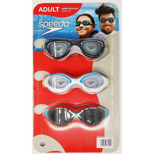 Speedo Adult Swimming Goggles (3 Pack). - shopperskartuae