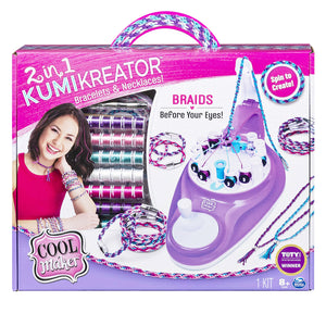 Cool Maker 2-in-1 KumiKreator Necklace & Friendship Bracelet Maker Activity Kit for Kids Ages 8 & Up