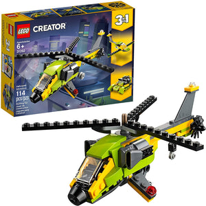 LEGO Creator 3in1 Helicopter Adventure 31092 Building Kit (114 Piece).