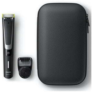 Philips OneBlade Pro Hybrid Beard Trimmer & Shaver, 12-Length Comb & Travel Case. - shopperskartuae