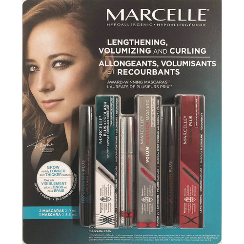 Marcelle Lengthening, Volumizing and Curling Mascara (Combo Pack). - shopperskartuae
