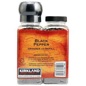 Kirkland Signature Black Pepper Grinder With Refill (350g). - shopperskartuae