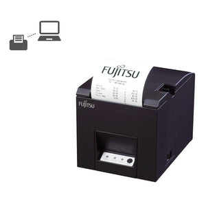 Fujitsu Thermal Reciept Printer POS FP-2000 (Matte Black). - shopperskartuae