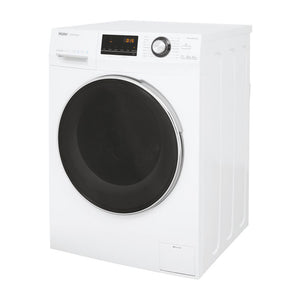 Haier HWD100-BP14636 Freestanding Washer Dryer, Quiet & Reliabile Inverter Motor, 10/6kg Load, White [Energy Class A]. - shopperskartuae