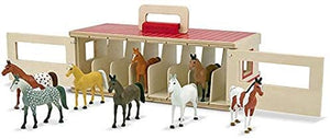 Melissa & Doug Take-Along Show-Horse Stable Play Set. - shopperskartuae