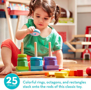 Melissa and Doug Geometric Stacker - For Brain Development.