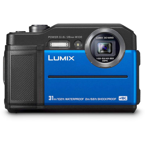 Panasonic LUMIX DC-FT7EB-A Tough Compact Waterproof Camera (Blue). - shopperskartuae