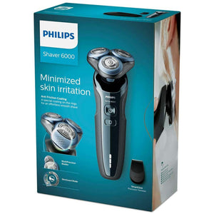 Philips Shaver Series 6000 Wet and Dry Cordless Electric Shaver with MultiPrecision Blades, Anti-friction Coating and MultiFlex Heads, Metallic Blue, S6630/11 - shopperskartuae