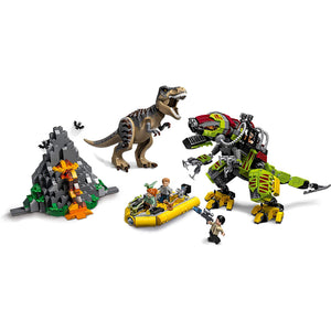 LEGO Jurassic World T. Rex vs Dino Mech Battle 75938 (716 Pieces).