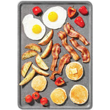 The Rock Plus Reversible Stovetop Grill/Griddle Pan (31 x 45 cm) - Ceramic Nonstick Coating - Non Stick Reinvented.