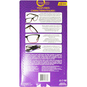 Foster Grant Premium Quality Fashion Reading Glasses (+2.00). - shopperskartuae