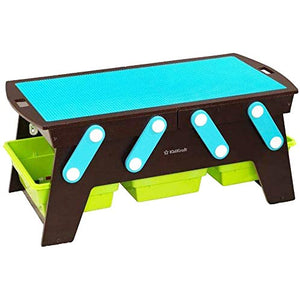 Lego Compatible KidKraft Table Building Bricks Play N Store. - shopperskartuae