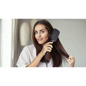 Philips StyleCare Essential Heated Straightening Brush (BHH880) - Auto Shut-off with ThermoProtect technology, Tourmaline Ceramic Coating for a Naturally Straight, Shiny & Frizz-free Hair. - shopperskartuae