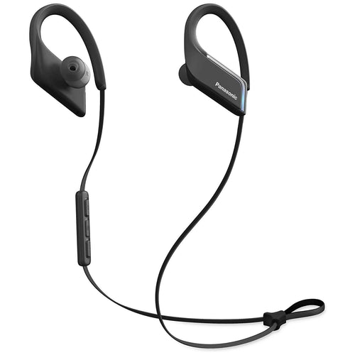 Panasonic RP-BTS35E-K Waterproof Wireless Bluetooth Clip Earphones (Black). - shopperskartuae
