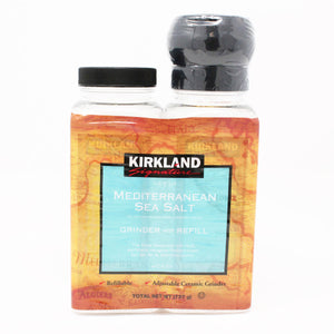 Kirkland Signature Mediterranean Sea Salt Grinder With Refill (737g). - shopperskartuae