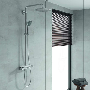 Grohe Vitalio Joy System 260 Shower With Thermostat & Easy Reach Tray 180 Degree Comfort Shower System | 3 Sprays. - shopperskartuae